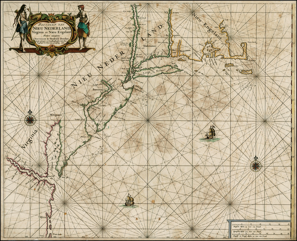62-United States, New England, Mid-Atlantic and Southeast Map By Hendrick Doncker