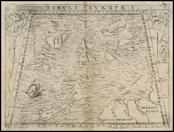 1-British Isles Map By Giacomo Gastaldi