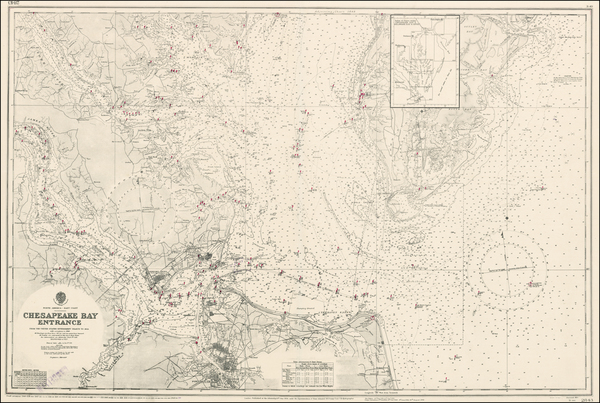 79-Mid-Atlantic and Southeast Map By British Admiralty
