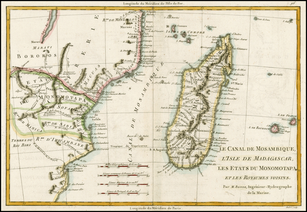 66-South Africa and African Islands, including Madagascar Map By Rigobert Bonne