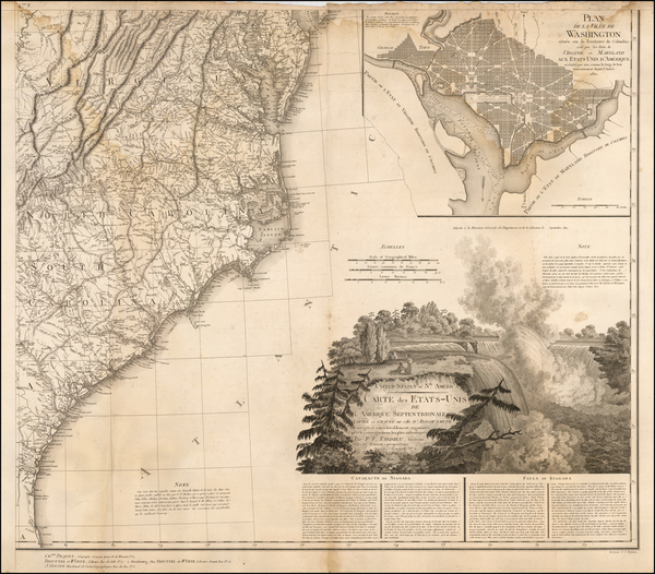 16-Mid-Atlantic and Washington, D.C. Map By Pierre Antoine Tardieu