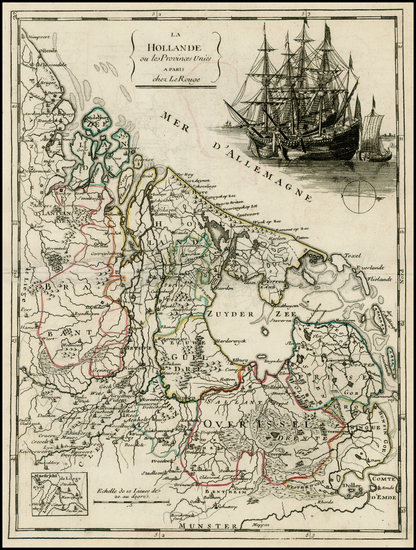 12-Netherlands and Luxembourg Map By Georges Louis Le Rouge