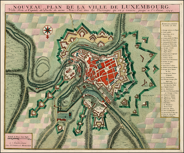 71-Luxembourg Map By Johannes Covens  &  Cornelis Mortier