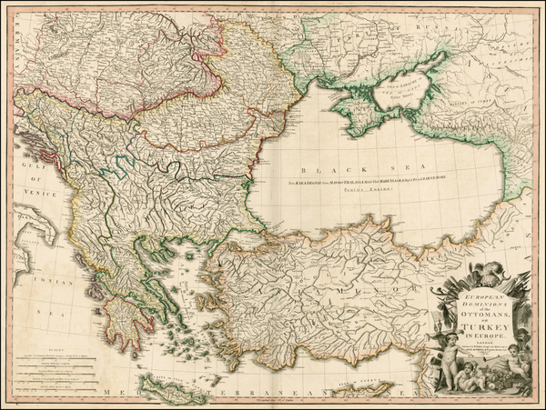 11-Russia, Ukraine, Balkans, Greece, Turkey and Turkey & Asia Minor Map By William Faden