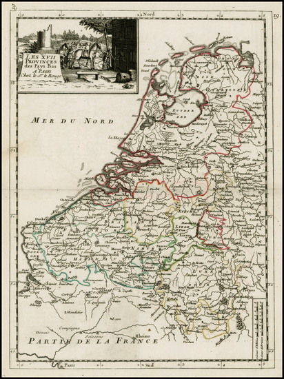 29-Netherlands and Luxembourg Map By Georges Louis Le Rouge