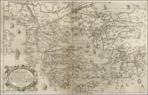 43-Balkans, Greece, Turkey and Balearic Islands Map By Ferrando Bertelli