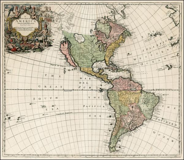 85-South America and America Map By John Senex