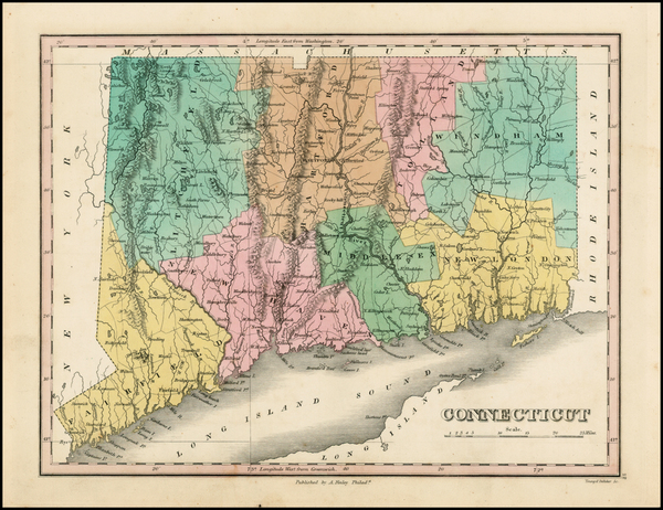 81-New England and Connecticut Map By Anthony Finley