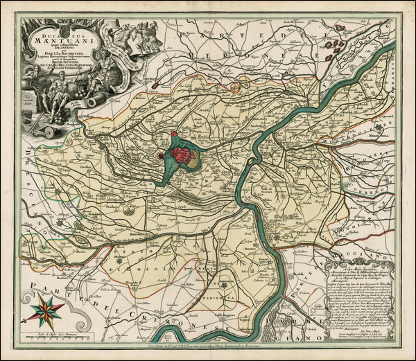 76-Northern Italy Map By Matthaus Seutter