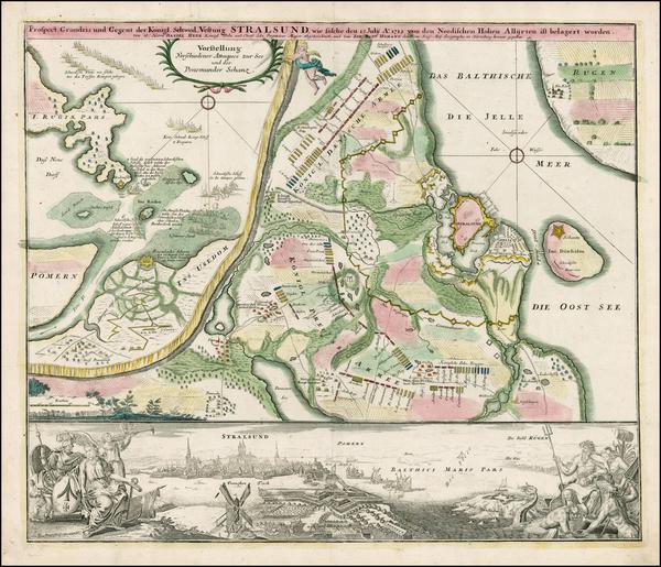 63-Baltic Countries and Scandinavia Map By Johann Baptist Homann