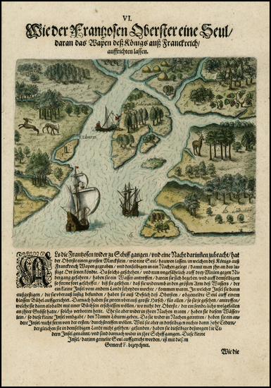 48-Florida and Southeast Map By Theodor De Bry