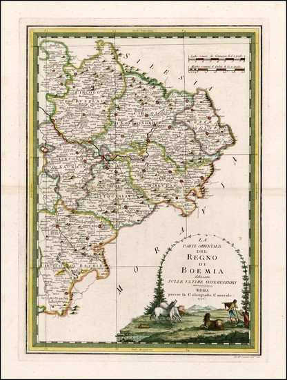 Czech Republic & Slovakia Map By Giovanni Maria Cassini