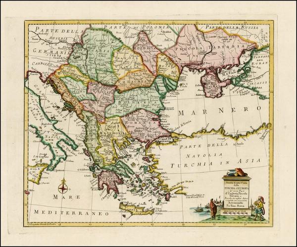 70-Ukraine, Greece, Turkey and Balearic Islands Map By Giambattista Albrizzi
