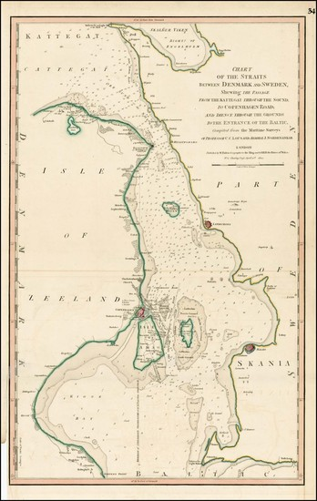 38-Baltic Countries and Scandinavia Map By William Faden