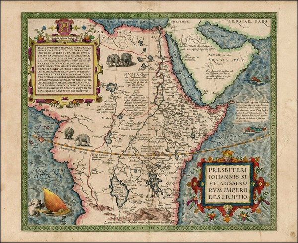 73-Africa, North Africa, East Africa and West Africa Map By Abraham Ortelius