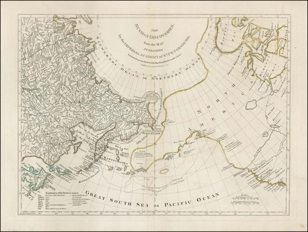 87-Polar Maps, Alaska, Canada, Pacific, Russia in Asia and California Map By Robert Sayer