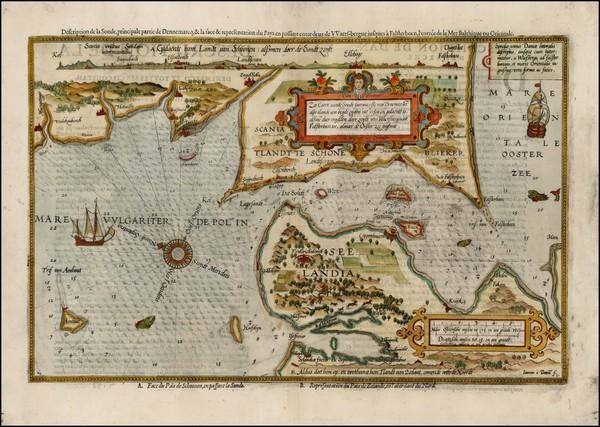 70-Scandinavia and Denmark Map By Lucas Janszoon Waghenaer