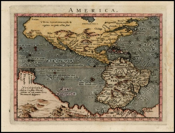 4-Western Hemisphere, Polar Maps, South America, Australia and America Map By Giovanni Antonio Ma