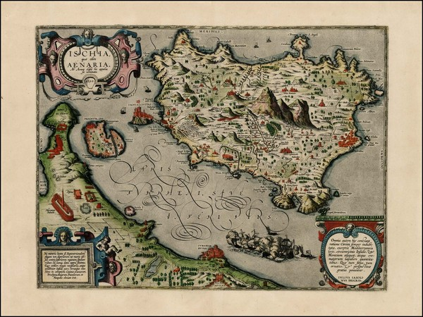 74-Italy and Balearic Islands Map By Abraham Ortelius