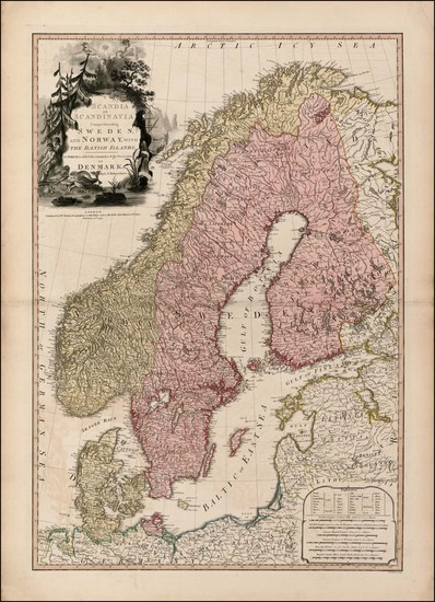 17-Baltic Countries and Scandinavia Map By William Faden