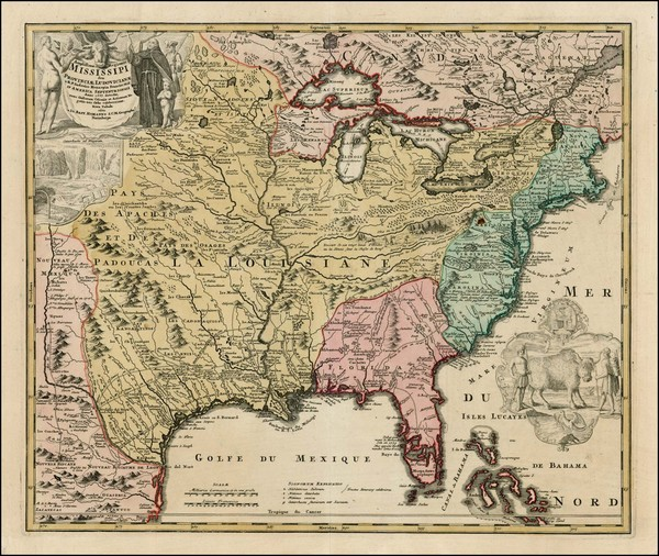 23-United States, South, Southeast, Texas, Midwest, Plains and Southwest Map By Johann Baptist Hom