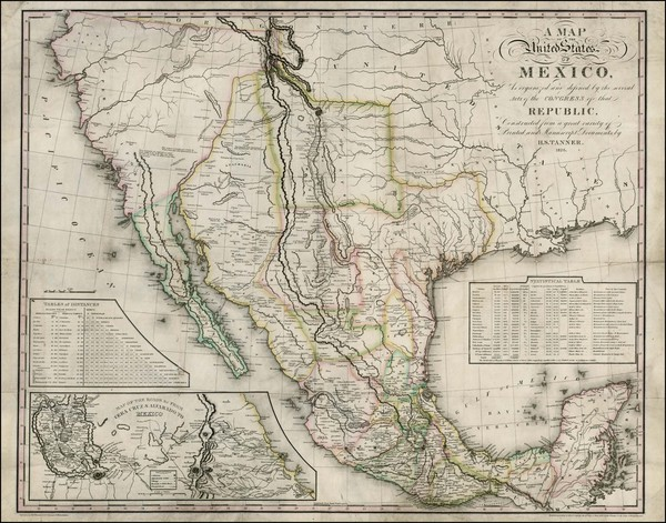 52-Texas, Plains, Southwest, Rocky Mountains, Mexico, Baja California and California Map By Henry