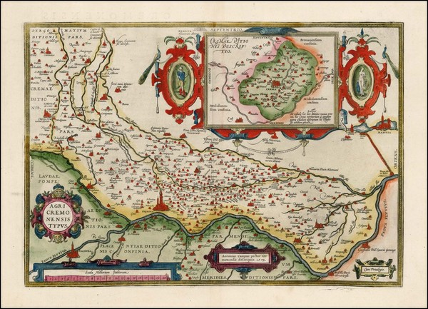 3-Northern Italy Map By Abraham Ortelius