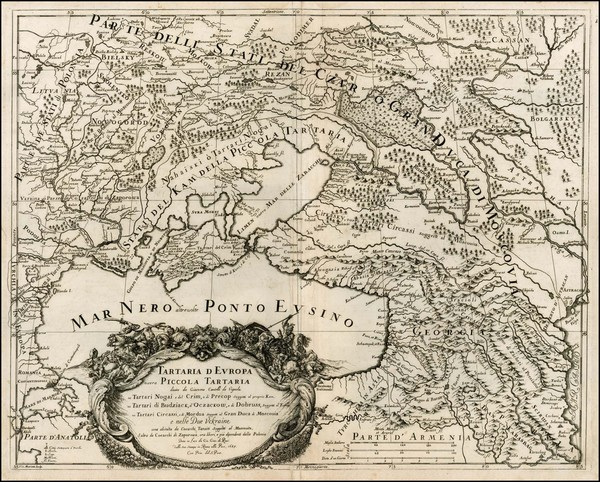 76-Poland, Russia and Ukraine Map By Giacomo Giovanni Rossi - Giacomo Cantelli da Vignola