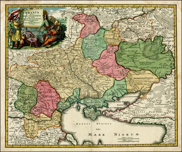 26-Ukraine, Romania and Balkans Map By Johann Baptist Homann