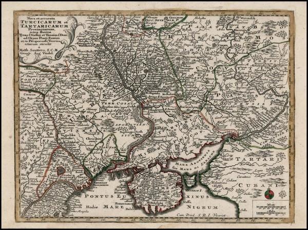 98-Russia and Ukraine Map By Matthaus Seutter
