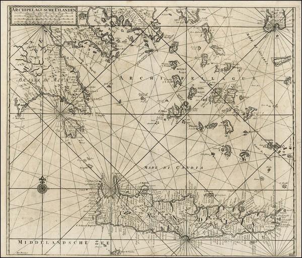 Greece Map By Johannes Van Keulen