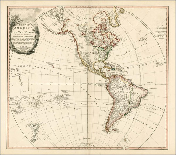 86-Western Hemisphere, South America and America Map By William Faden