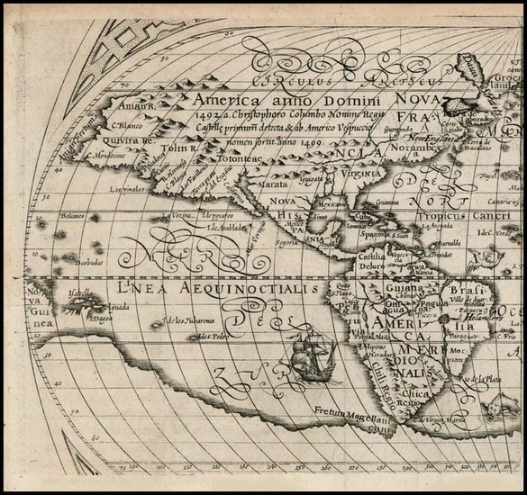 95-Western Hemisphere, North America, South America, Oceania and America Map By Ephraim Pagitt