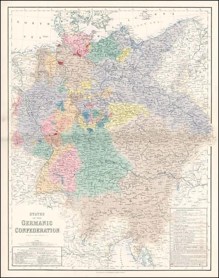 49-Europe, Netherlands, Germany, Austria, Poland and Hungary Map By Archibald Fullarton & Co.
