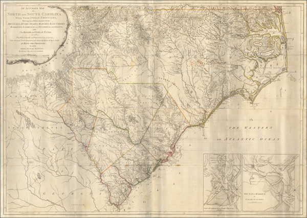 Southeast, North Carolina and South Carolina Map By Henry Mouzon