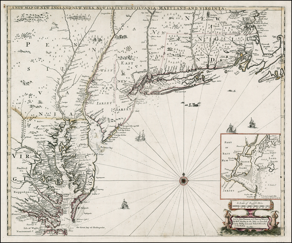 7-New England, Mid-Atlantic and Southeast Map By Robert Morden  &  Philip Lea  &  John Th