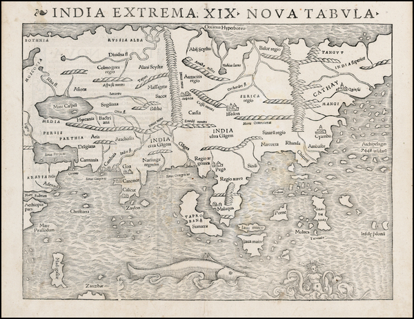69-Asia Map By Sebastian Munster