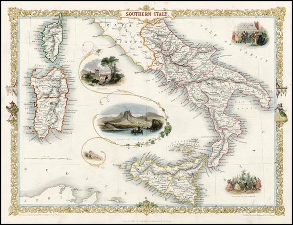 12-Italy, Mediterranean and Balearic Islands Map By John Tallis