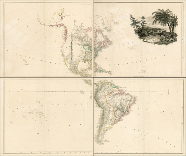 73-South America and America Map By Aaron Arrowsmith