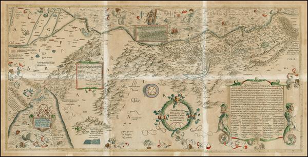 70-Holy Land Map By  Gerard Mercator