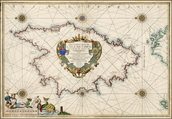 France and Corsica Map By Laurent Bremond - Henri Michelot