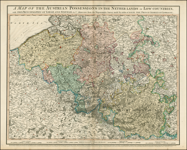 6-Belgium and Luxembourg Map By William Faden