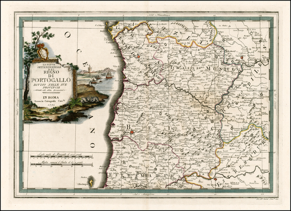 25-Portugal Map By Giovanni Maria Cassini