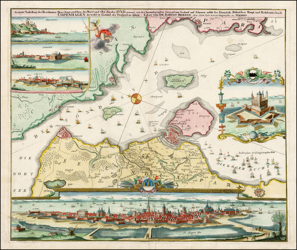 12-Scandinavia Map By Johann Baptist Homann