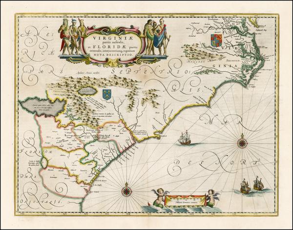 40-Southeast Map By Willem Janszoon Blaeu