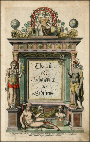 18-Title Pages Map By Abraham Ortelius