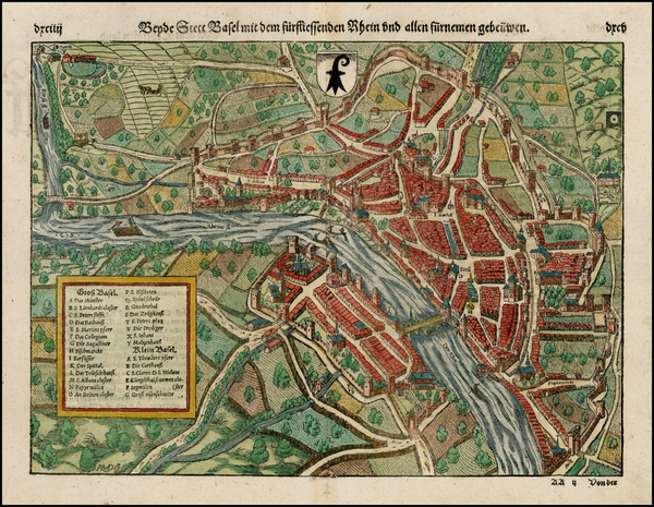 12-Switzerland Map By Sebastian Munster