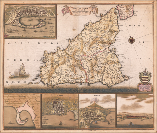 93-Sicily Map By Frederick De Wit