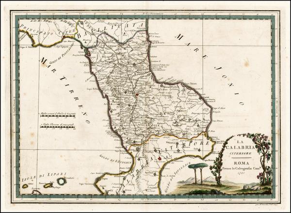54-Italy Map By Giovanni Maria Cassini