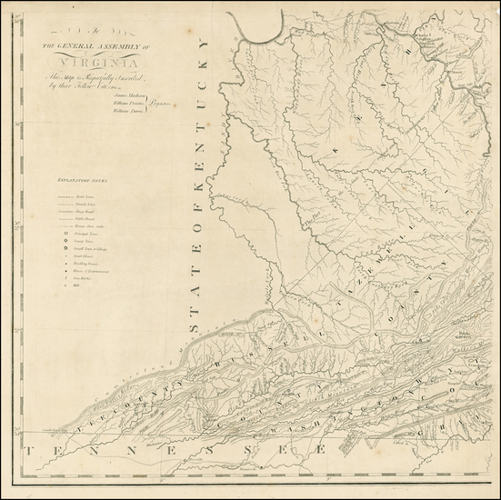 46-West Virginia, Southeast, Virginia and Midwest Map By Frederick Bossler